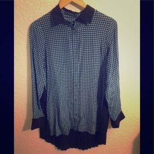 Robert Graham Long Sleeve Blouse Medium Blue
